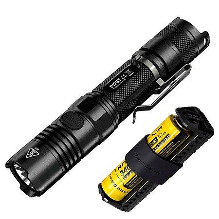 Kit PRO Lanterna Tática NiteCore P12 GT Led Cree de 1000 Lumens  + Super Bateria e Carregador