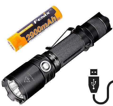 Lanterna Tática Fenix TK20R Led Cree 4 modos 1000 Lumens Profissional Recarregável + Super Bateria