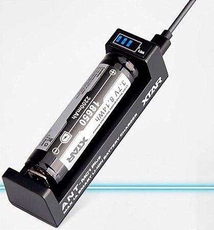 Carregador inteligente Xtar MC1 Plus Profissional Pilhas e Baterias com Indicador de Carga