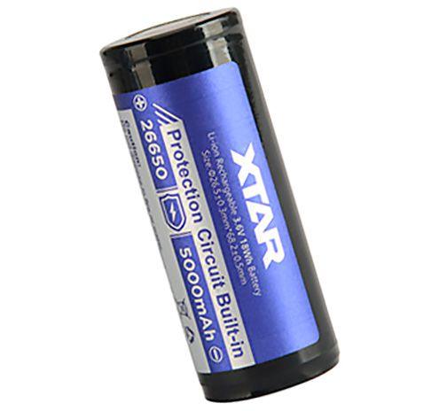 Super Bateria Grossa de alto desempenho 5000 mAh Xtar 26650 com circuitos de proteção