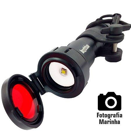 Kit Lanterna Led Cree de Mergulho e Fotografia Profissional Bigblue AL1100XWP com 1100 Lumens 60 metros