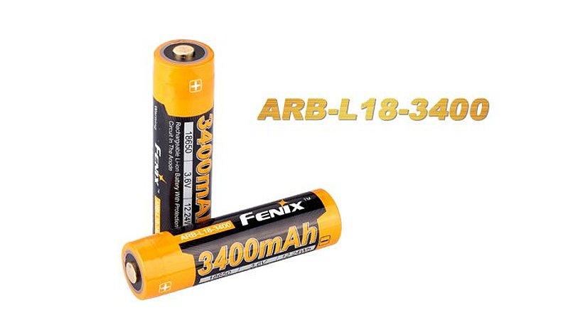 Bateria de alto desempenho 18650 Fenix ARB L18 3400 mAh com circuitos de proteção