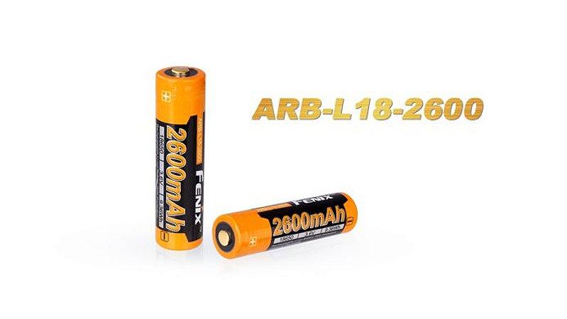 Bateria de alto desempenho 18650 Fenix ARB L18 2600 mAh com circuitos de proteção
