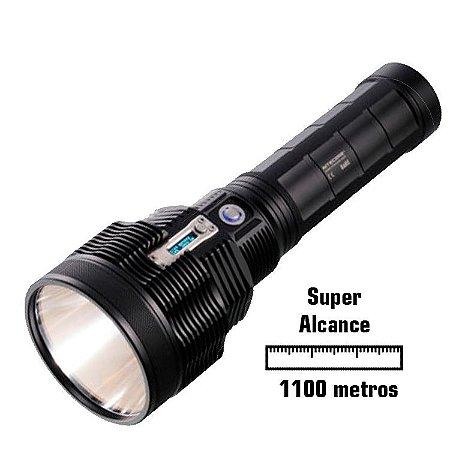 Kit Holofote Recarregável NiteCore TM36 1800 Lumens e Alcance de 1100 metros com Super Bateria