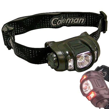 Lanterna Led de Cabeça Coleman Axis 5 Leds 1 Branco 2 azuis e 2 Vermelhos - 3 Pilhas AAA
