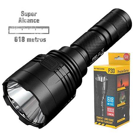 Lanterna Nitecore P30 de Longo Alcance 618 m Caça Busca e Resgate Policial