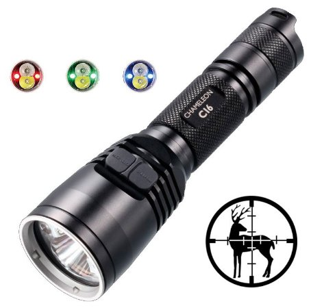 Lanterna Tática Infra Vermelho NiteCore CI6 Led Cree de 440 Lumens Recarregável USB