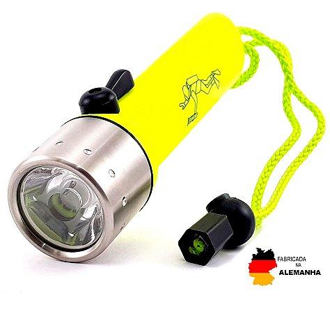 Lanterna Mergulho LedLenser D14.2 Profissional Chave Magnética de 2 Modos Alto e Baixo 400 Lumens Foco Concentrado