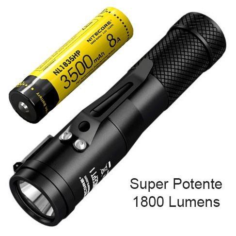Lanterna Tática NiteCore Concept Alta Potência Led Cree de 1800 Lumens  + Super Bateria
