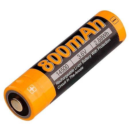 """Super Bateria 14500 """"AA"""" de alto desempenho Fenix ARB L14 800 mAh Pilha AA Recarregável"""