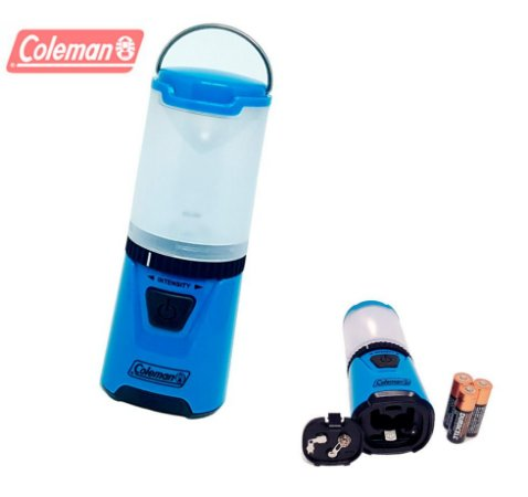 Mini Lampião de Led Coleman High Tech 3 pilhas AA Pequeno e Potente para Camping Caça e Pesca