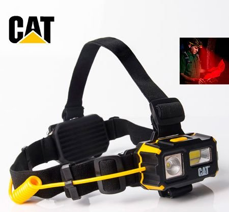 Lanterna de Cabeça e Capacete Caterpillar CT4120 Industrial 250 Lumens Forte Foco Duplo