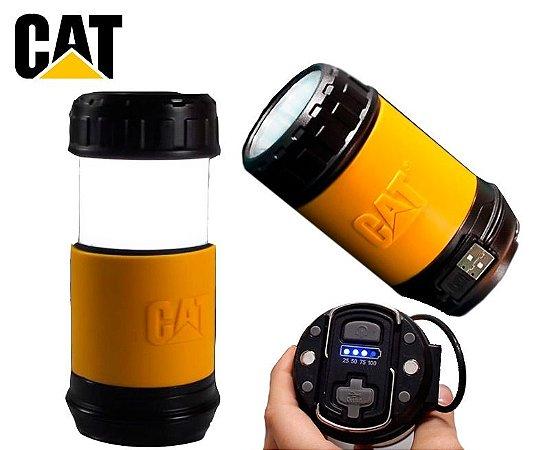 Lanterna e Lampião Led 225 Lumens Caterpillar CT6515 Camping Caça Pesca e Trabalho Carregador Portátil USB