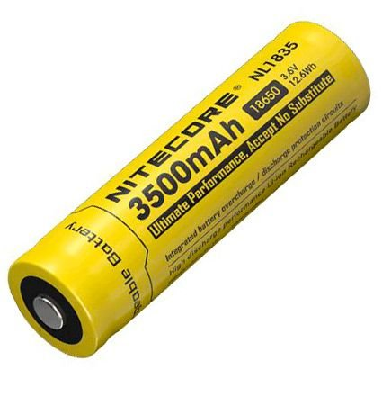 Super Bateria 18650 de alto desempenho 3500 mAh  Nitecore NL1835 Circuitos de Proteção
