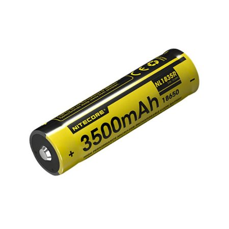 Bateria Nitecore NL1835R - 3500 mAh com micro USB integrado.