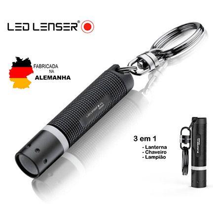 Mini Lanterna e Lampião Ledlenser K1L Chaveiro - Pequena e Potente 15 Lumens