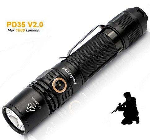 Lanterna Tática Nova Fenix PD35 V2.0 1000 Lumens Indicador de Carga 2018 - Uso Policial e Militar
