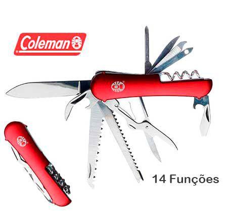 Canivete tipo Suiço Coleman Ember III Ferramenta Multi Funcional Médio Porte 14 Funções
