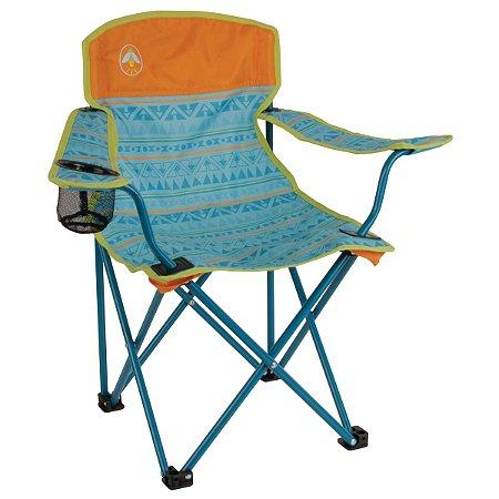 A melhor Cadeira Infantil Dobrável Coleman Kids Acabamento Premium - Verde