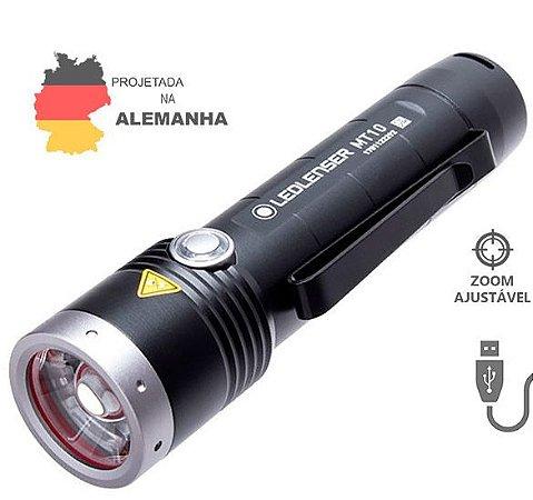 Lanterna LedLenser MT10 1000 Lúmens Zoom Ajustável Kit Completo