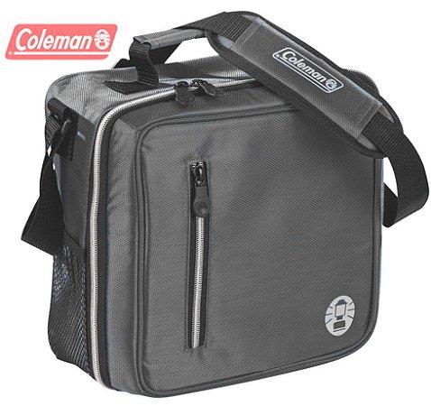 Bolsa Térmica Coleman Messenger 12 Latas Cinza com o Melhor Acabamento e Isolamento