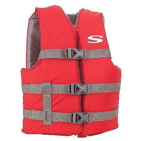Colete Salva Vidas Boating Juvenil vermelho 40Kg - Coleman
