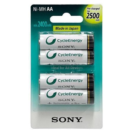 Pilhas Recarregáveis Sony 4xAA