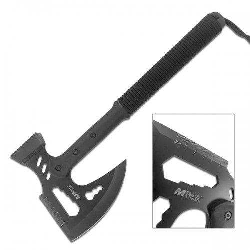 Machado multifunção com martelo e cabo com corda