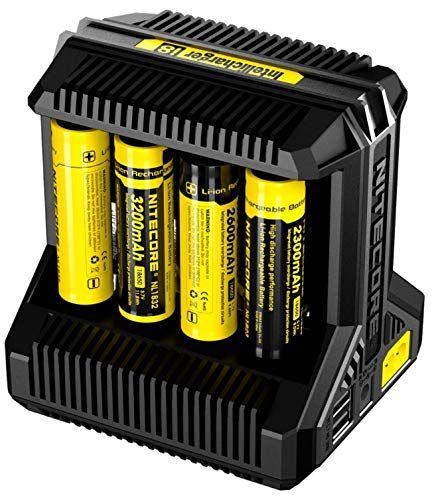 Carregador de Baterias Inteligente Nitecore I8