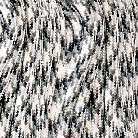Paracord Camuflado 550 Lb com 7 filamentos 10 metros - Snow Camo