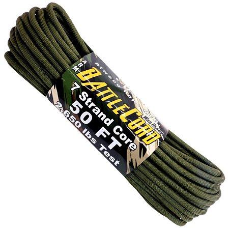 Corda Militar Battlecord 2650 Lbs 7 Filamentos 15 metros - OD Verde Militar