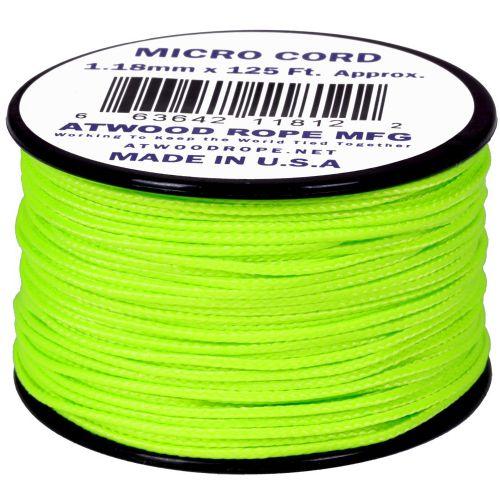Rolo de Corda Cordame Militar Microcord 1,18mm x 37,5m - Verde Neon