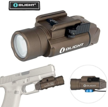 Lanterna para pistola Olight Valkyrie PL-PRO 1500 Lúmens TAN