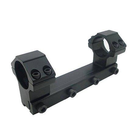 Adaptador Suporte de Arma MER.105 Trilho + 2 Redondo PQ