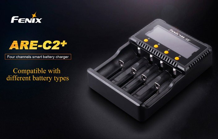 Carregador Fenix ARE C2+ Inteligente 4 canais slots