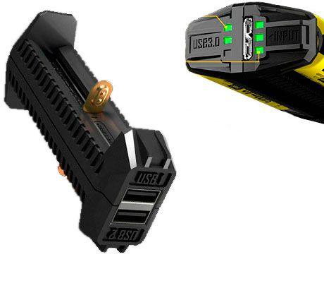 Carregador Inteligente Nitecore F2 Função Banco de Energia