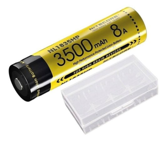 Bateria 18650 IMR Nitecore NL1835HP alta drenagem 8A
