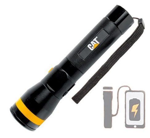 Lanterna Led Caterpillar CAT CT2115 USB 1200Lm Ajuste Zoom