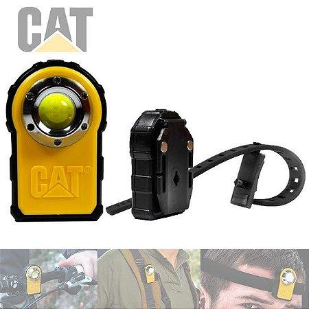 Lanterna de Cabeça Bike 2em1 Caterpillar CT5130 Led 250 Lm