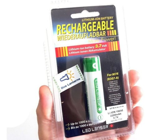 Bateria 18650 LedLenser 3.7V 2200mAh para Lanterna ou Vaper