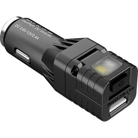 Mini Lanterna Nitecore VCL10 Multi Fução USB Carro Sinaliz +