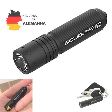 Mini Lanterna Chaveiro LedLenser SolidLine ST1 100 Lm EDC