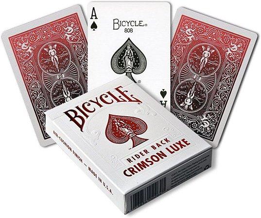 Baralho Premium  Bicycle MetalLuxe Crimson Coleção