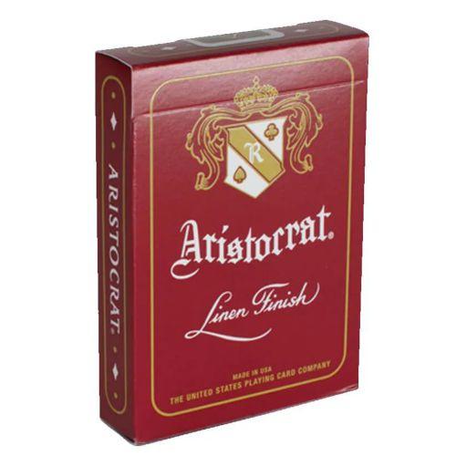 Baralho Premium Aristocrat Vintage 727 Linen Finish Vermelho