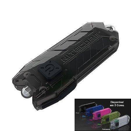 Mini Lanterna Chaveiro Tático Robusto Nitecore Tube Led Cree de 45 Lumens Forte EDC Carrega no USB