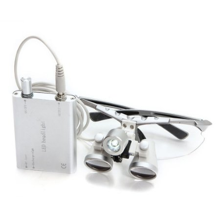 Óculos Lupas e Lanterna Cirúrgica Médica e Odonto EPI PRO Led Fotóforo médico Auste de luz branca gradual