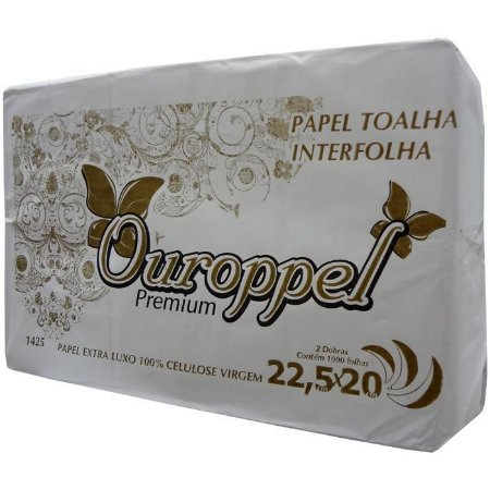 Papel Toalha Interfolha 2 Dob Ouroppel 1.000F