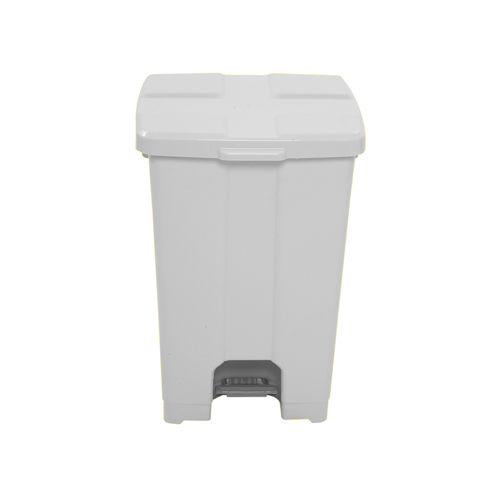 Cesto de lixo 15L Quadrado C/ Pedal Branco JSN