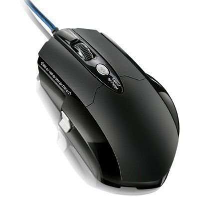 MOUSE USB GAMER WARRIOR MO191 8 BOTÕES 3200 DPI PRETO MULTILASER