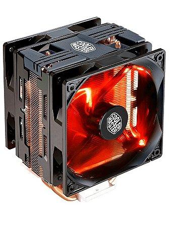 AIR COOLER PARA CPU HYPER 212 RED LED DUALFAN - COOLER MASTER